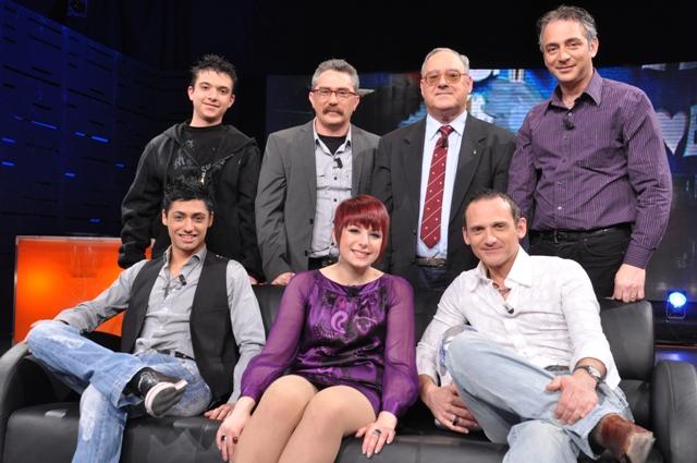 Thea with Jason Cassar, Sunny Aquilina, Frans Spiteri, Jes, Mikele and Glenn